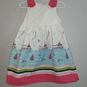 Gymboree Blooming Nautical Stunning Print Dress 3T